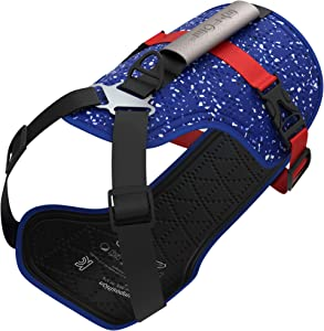 LEOLAB Patented Hydro Cooling Dog Harness - Non-Pulling Adjustable Dog Harness - UV Protective Dog Cooling Vest