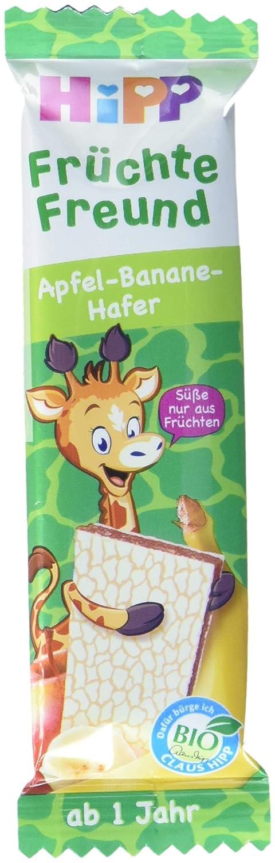 HiPP Bio-Riegel Früchte Freund Giraffe Apfel-Banane-Hafer, 22er Pack (22 x 23 g) DA31361