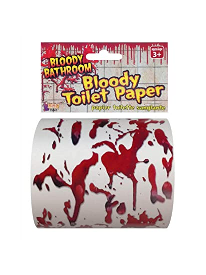 Forum Bloody Bathroom Halloween 4 5 Decorative Toilet Paper Roll