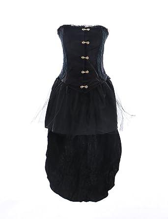 Kawaii-Story JL de 552 Stretch Terciopelo Victorian gótico Lolita Vestido Cosplay Vampiro