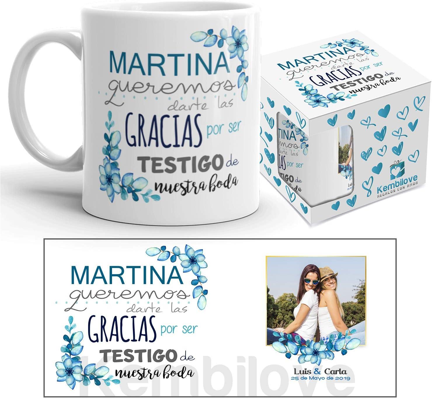 Taza de Café para Bodas – Taza de Desayuno Regalar a los Invitados – Taza de Café y Té para Bodas – Taza de Cerámica Impresa – Tazas de de 350 ml para Aniversario (Testigo de Boda.)