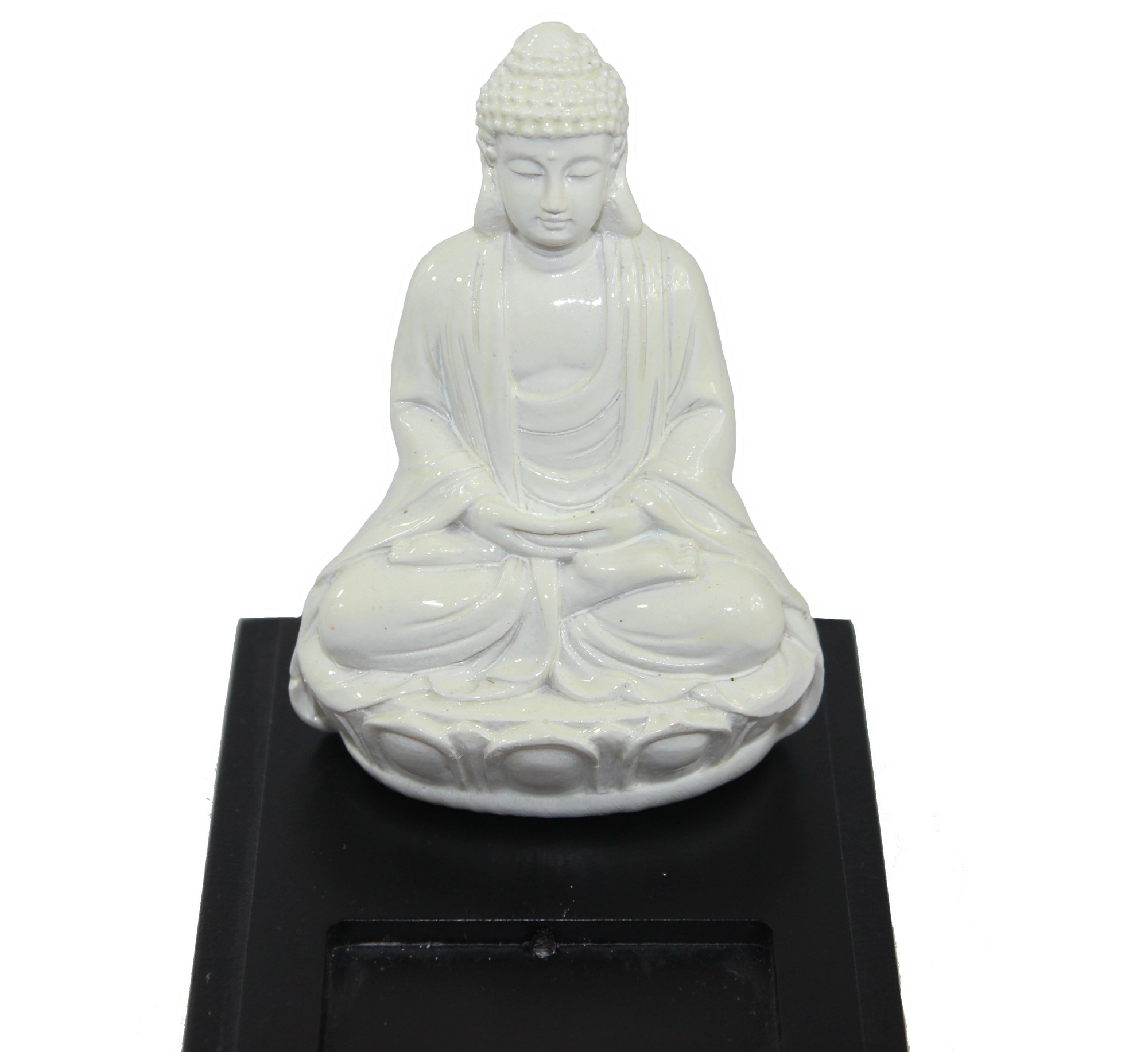 Black Wood Incense Burner Holder Tray with Buddha Figurine by Seraphic (Image #3)