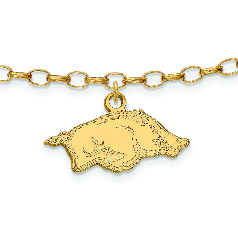 Gold Plated Arkansas Anklet