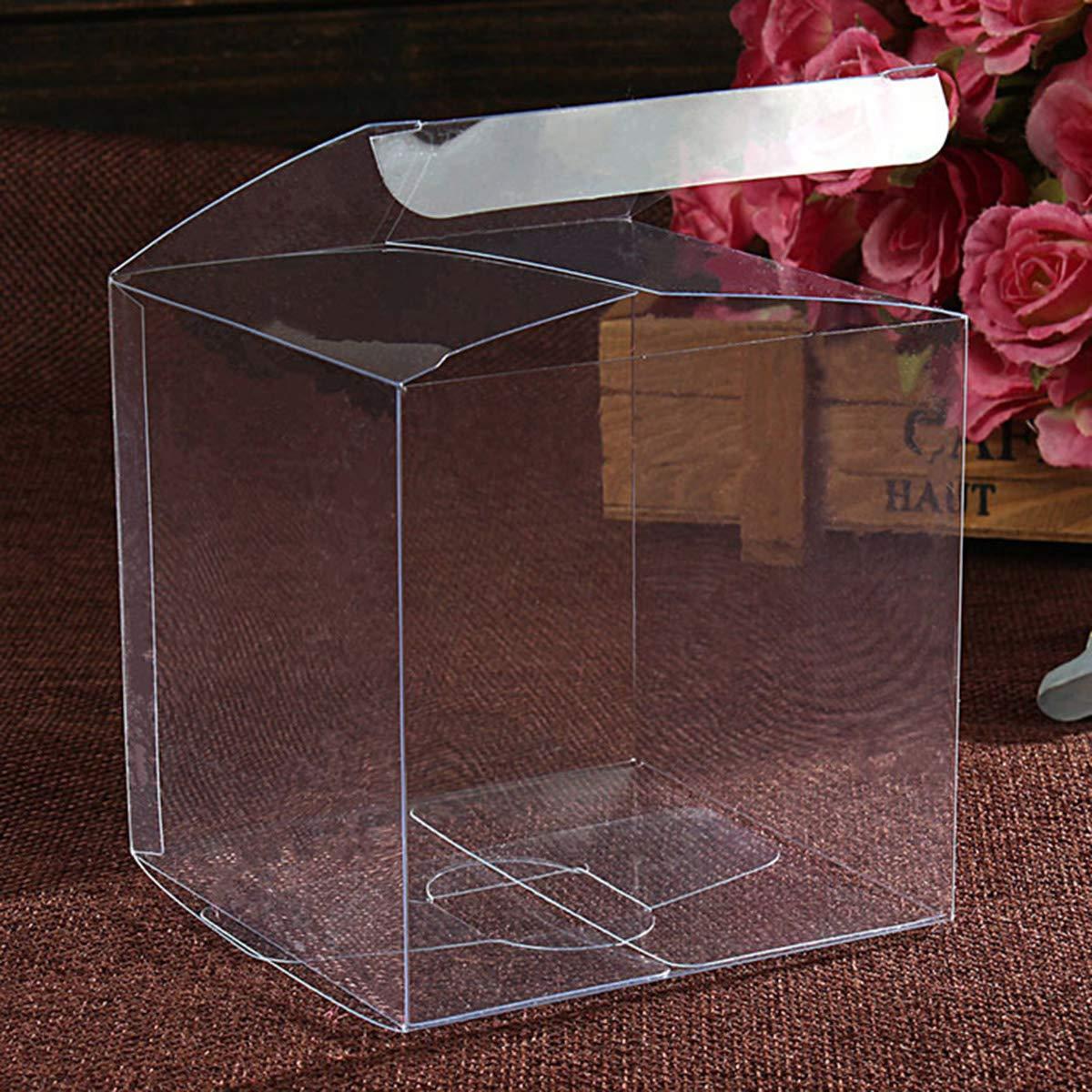 BESTONZON 25PCS 4/x 4/x 4/cm Trasparente Candy Treat Gift pacchi per Baby Shower Wedding Party