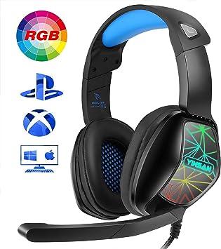 YINSAN Auriculares Gaming para PS4, Cascos Gaming Premium Stereo ...