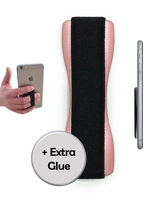 CASE-HERO Premium Smartphone Fingerhalterung | inkl. ERSATZKLEBER | EINHAND Modus für Handy, Tablet, eReader | Hülle & Case |