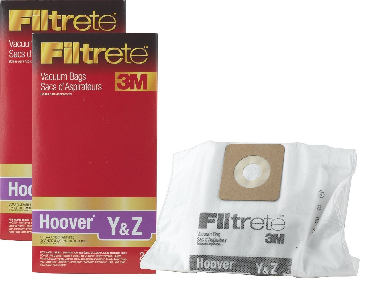 3M Filtrete Hoover Y & Z Ultra Allergen Synthetic Vacuum Bag