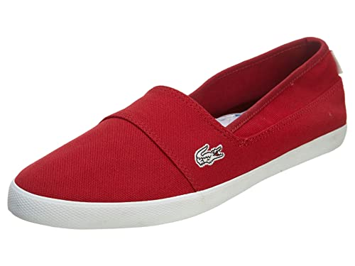 e7f3cb493 Lacoste Womens Canvas Shoes Marice CAM Slip On Red Sneakers 10 B(M) US  Buy  Online at Low Prices in India - Amazon.in