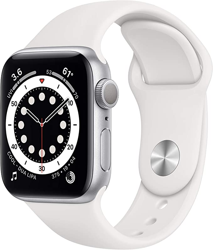 Amazon.com: New AppleWatch Series 6 (GPS, 40mm) - Silver Aluminum Case with White Sport Band