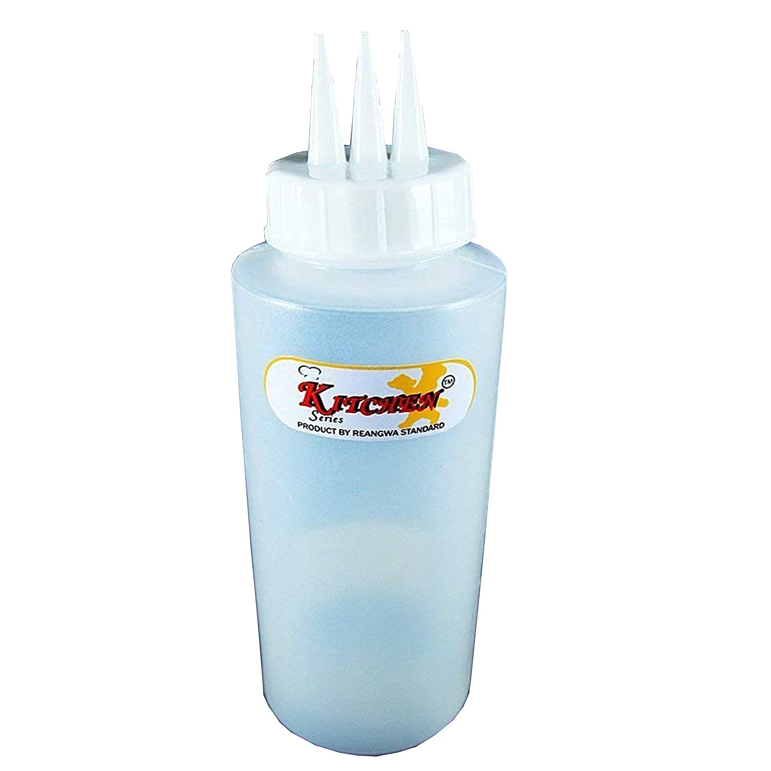 3 Head Pole Condiment Sauce Squeeze Bottle Dispenser ketchup, 12 oz KP Mart AX-AY-ABHI-23708