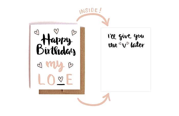 V Later Adult Birthday Card For Lover