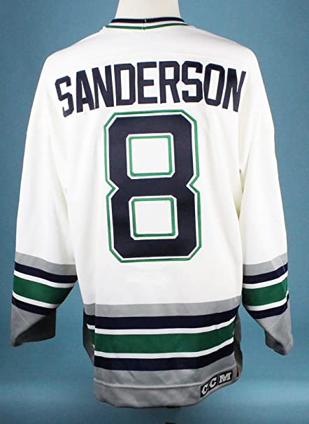The Finest Geoff Sanderson Game Worn Hartford Whalers Jersey MEARS ... e086454cc82