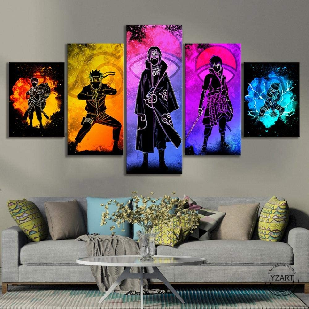 5 Panel Soul of Naruto Characters Picture HD Painting Canvas Wall Art Home Decor-15080cm
