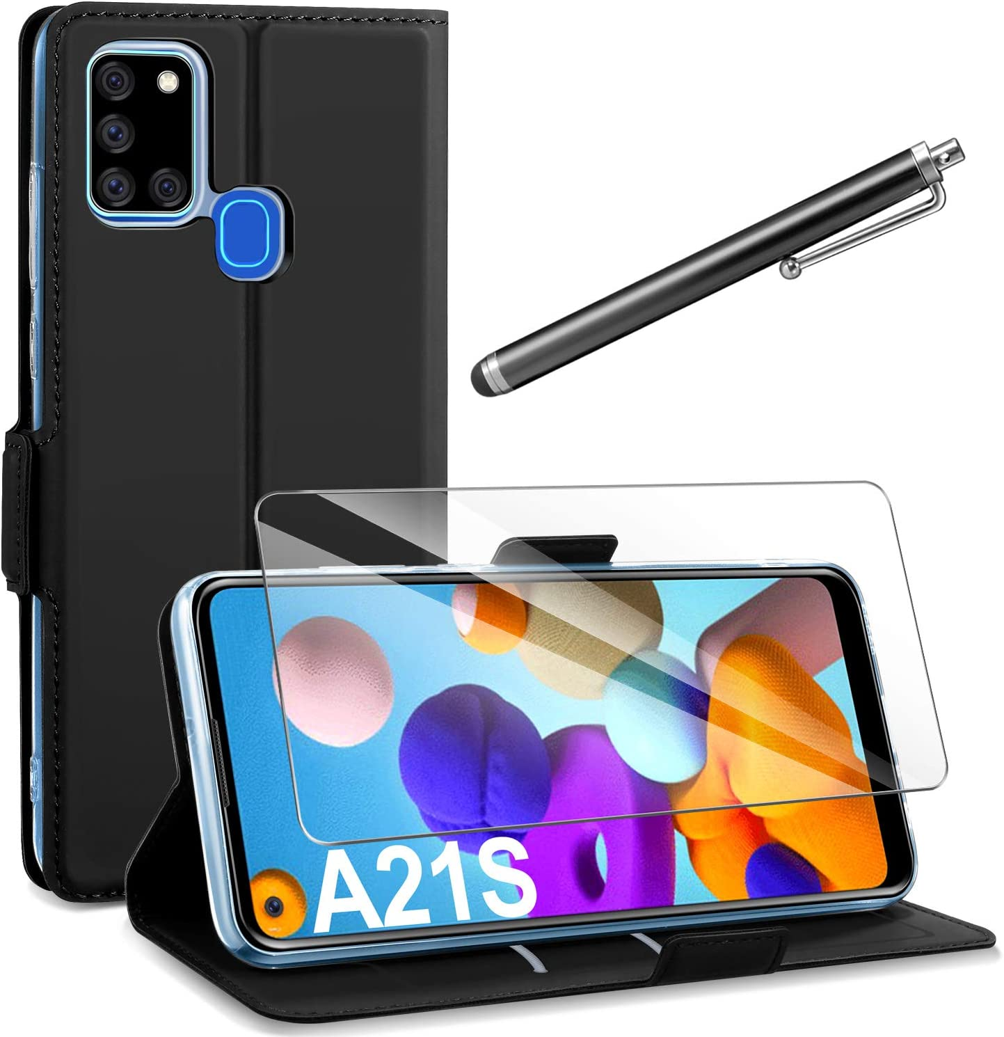 Blau TANYO H/ülle Geeignet f/ür Samsung Galaxy A21s Perspektive Luxury Mirror Mode Ultrad/ünne Handyh/ülle