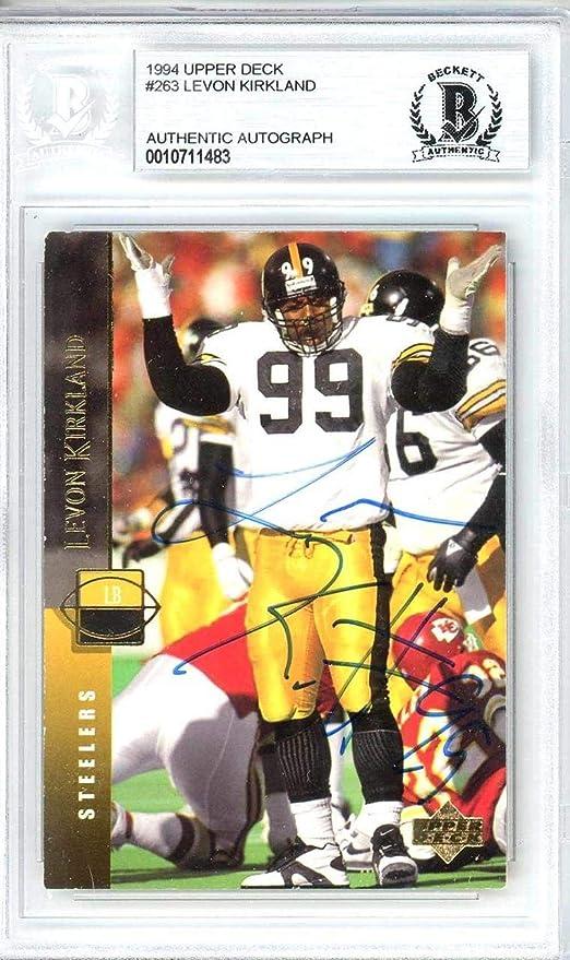 new concept ce275 5d833 Levon Kirkland Autographed 1994 Card #263 Pittsburgh ...