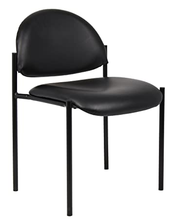 Boss Office Products B9505-CS Dimond Caressoft Stacking Chair in Black