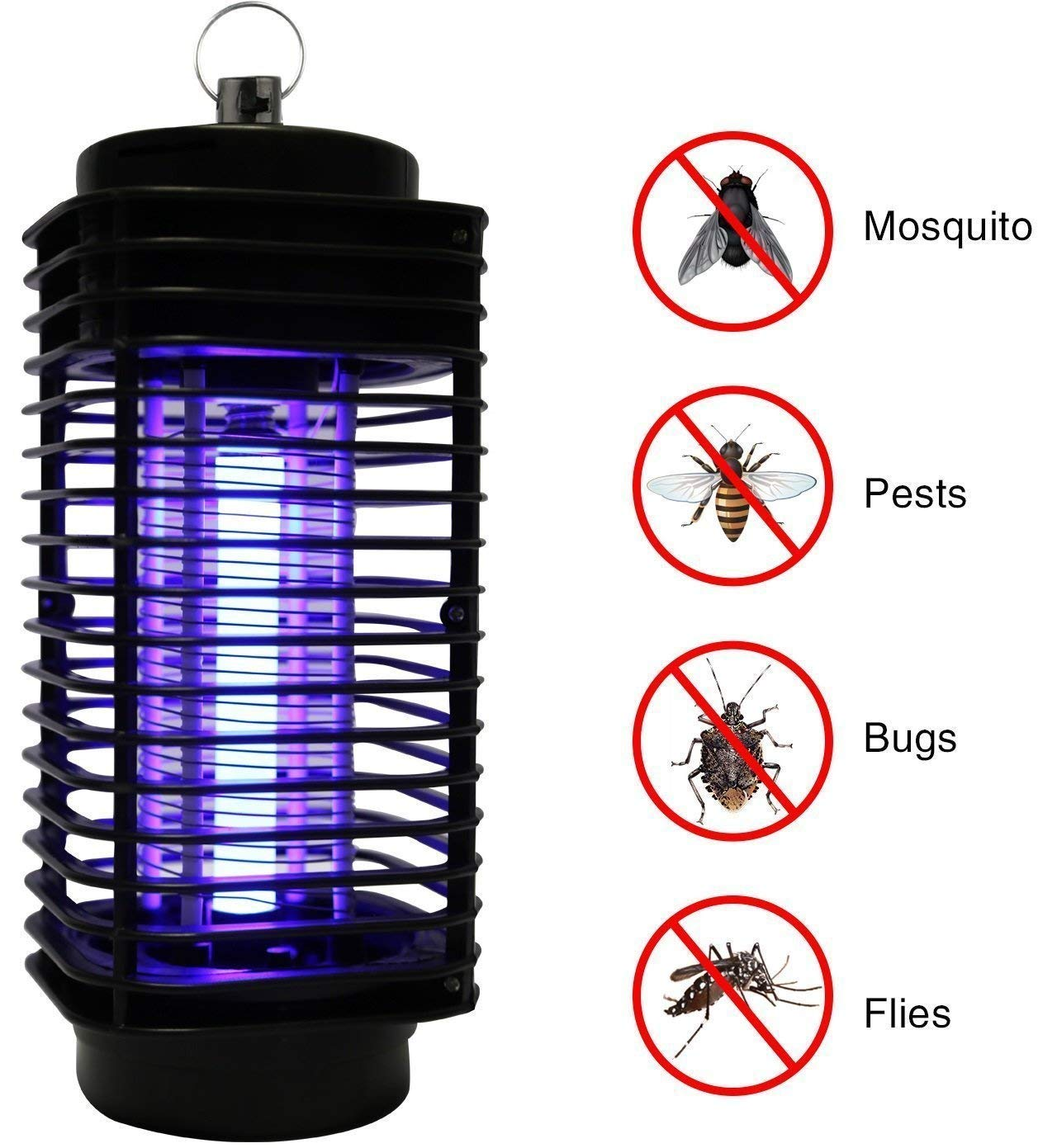 CYLONG Mosquito Killer Lamp, Bug Zapper and Fly Zapper Catcher Killer Trap - Protects Up to 1.5 Acre/Bug and Fly Killer, Insect Killer, Mosquito Killer - for Residential and Commercial Use (Black) by CYLONG