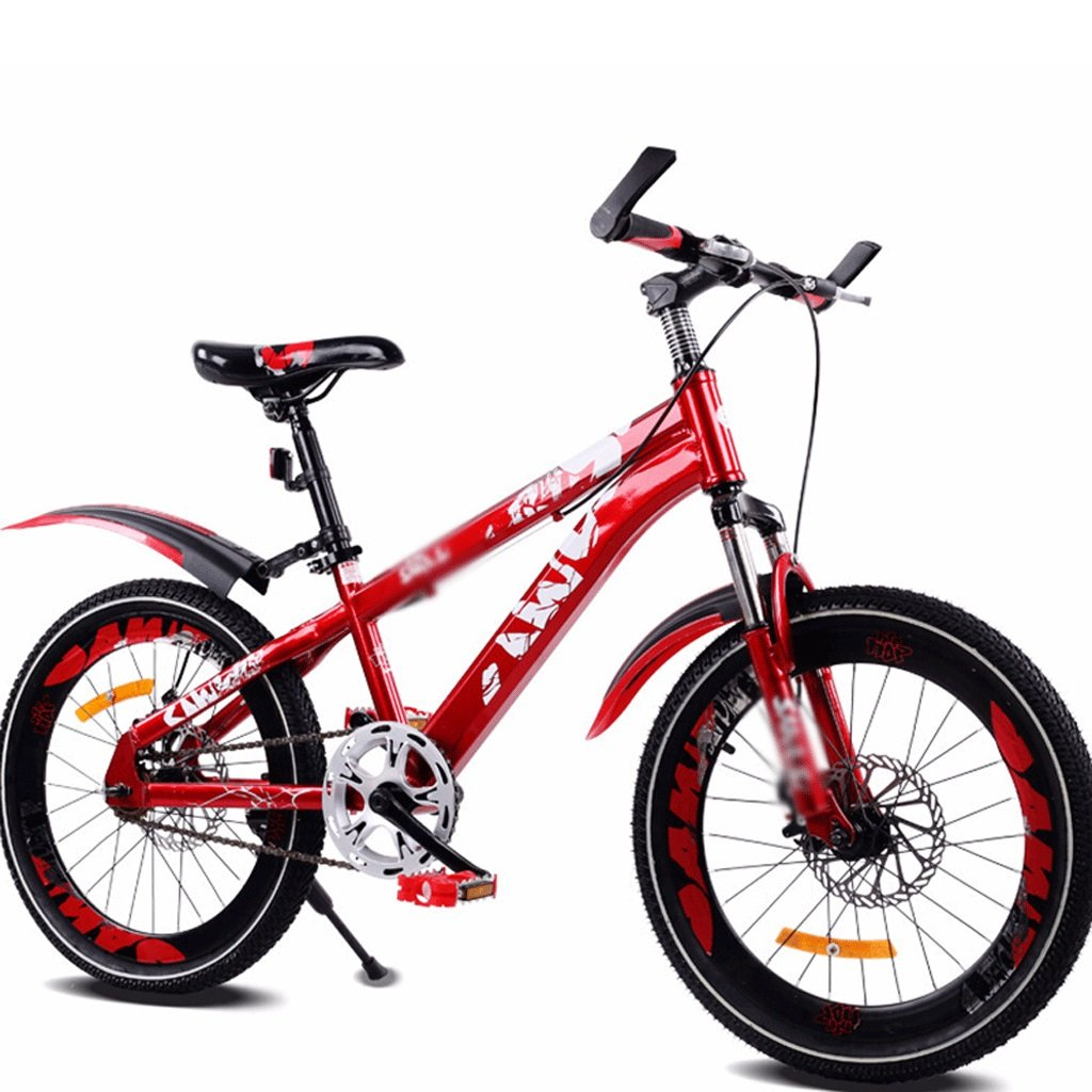 DUWEN Bicicleta de montaña de Velocidad única para niños 18 Pulgadas, 20 Pulgadas, Rojo (Tamaño : 20 Inch)