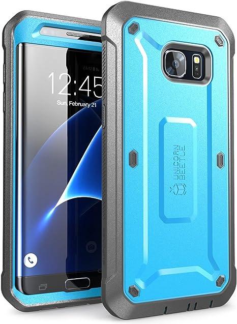 SupCase Funda Galaxy S7 Edge [Serie Unicorn Beetle Pro] 360 Grados Case para Samsung Galaxy S7 Edge Azul: Amazon.es: Electrónica