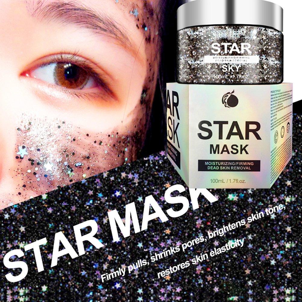 Estrellas Máscara, Máscara Limpiador,Máscara Facial Hidratante, Máscara profundidad reconstituant Hydratant Pores máscara de cuidado de la piel Peel Off ...