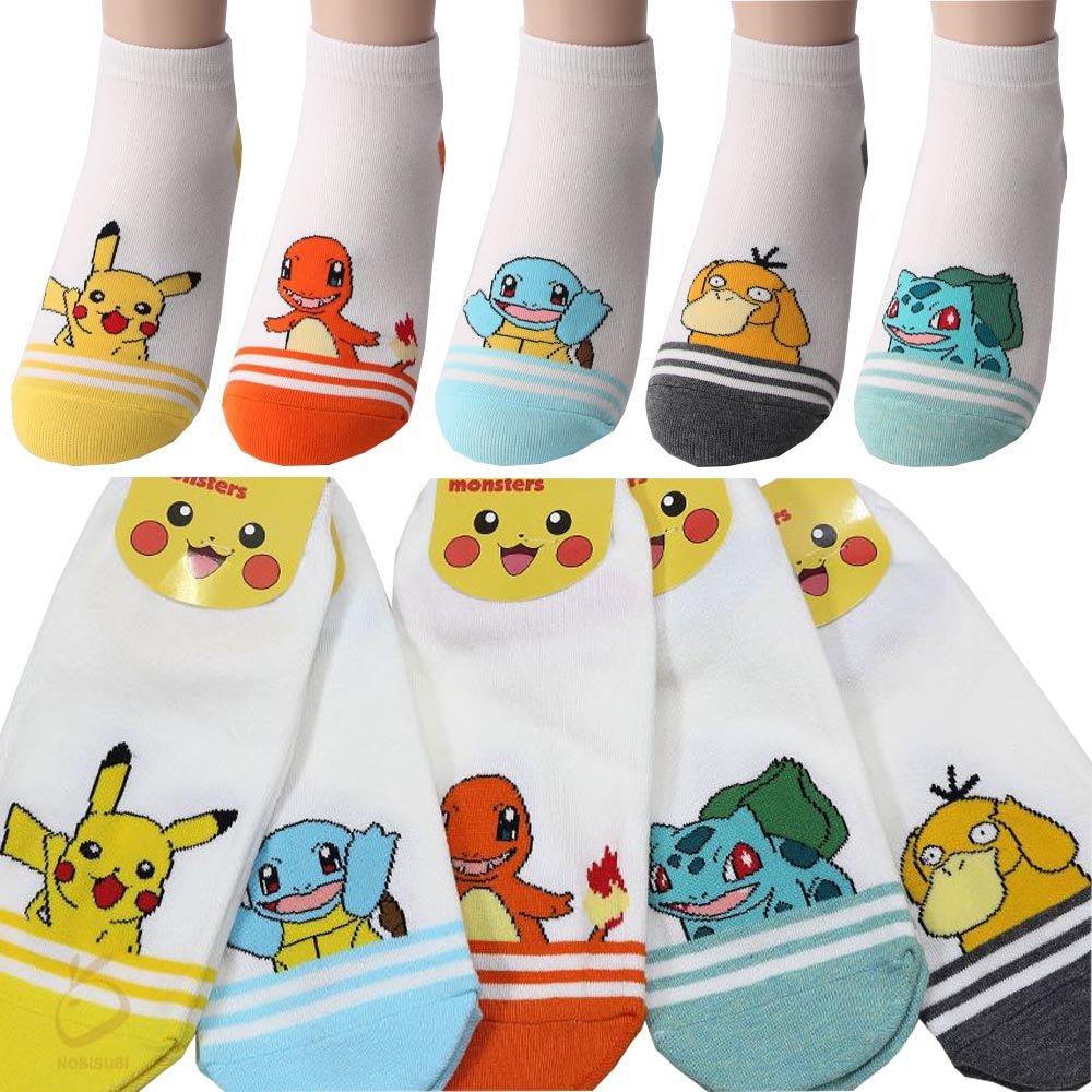 Small luxury socks factory Calzini Casuali Pokemon per Bambini Confezione da 5 M