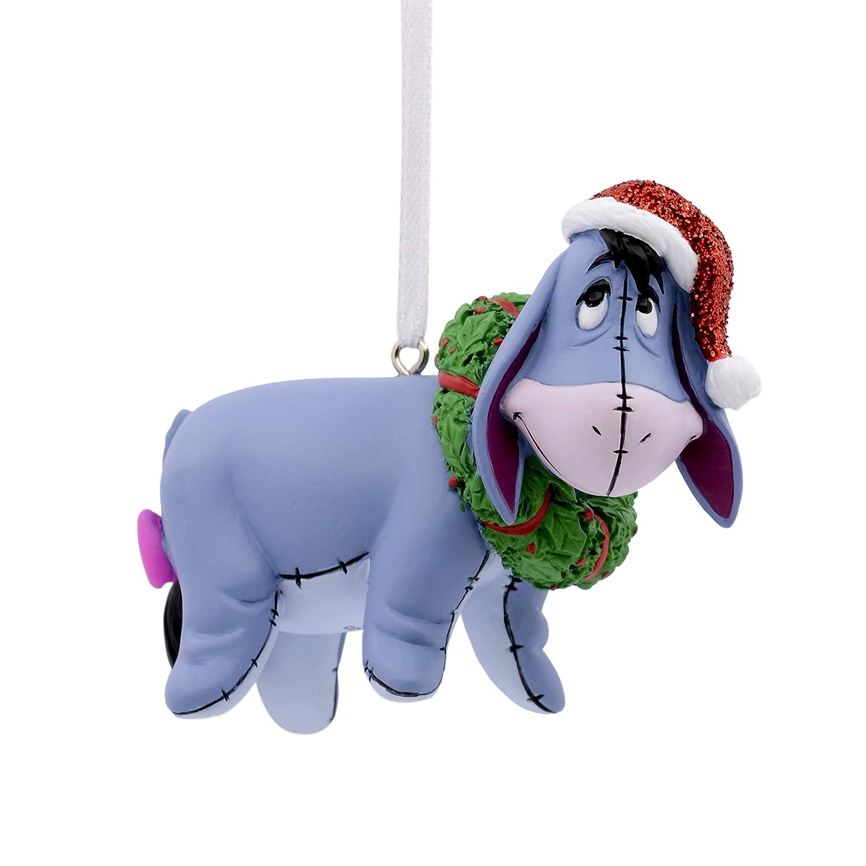 Hallmark Christmas Ornaments  Disney Winnie the Pooh Eeyore With Wreath Ornament