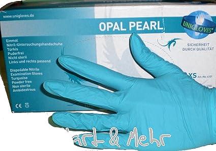 1 dispensador=de seguridad-guantes 100 unidades + + OPAL-PEARL sin látex