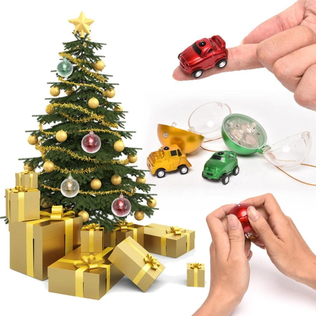 sunnymi Mini bolas de navidad coche teledirigido, niños Navidad ...