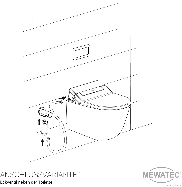 MEWATEC Dusch-WC Aufsatz E300 Bidet Toilettensitz Duschtoilette Preis-Leistungs