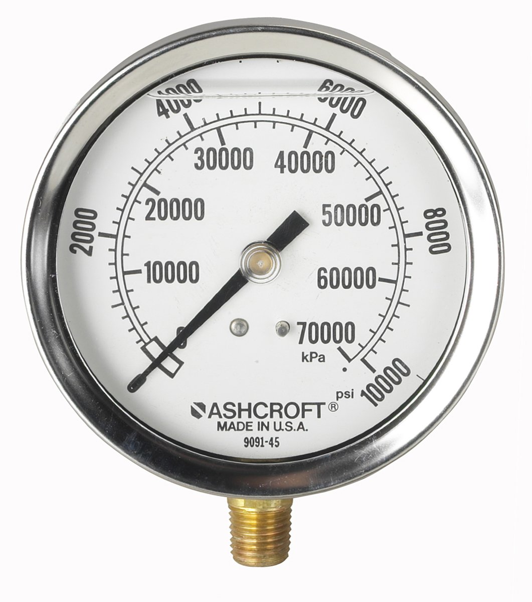 9658 Pressure Gauge with 2-Scales Glycerin or Silicone Filled OTC