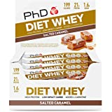 PhD Nutrition Diet Whey Protein Bars, Salted Caramel, Pack of 12