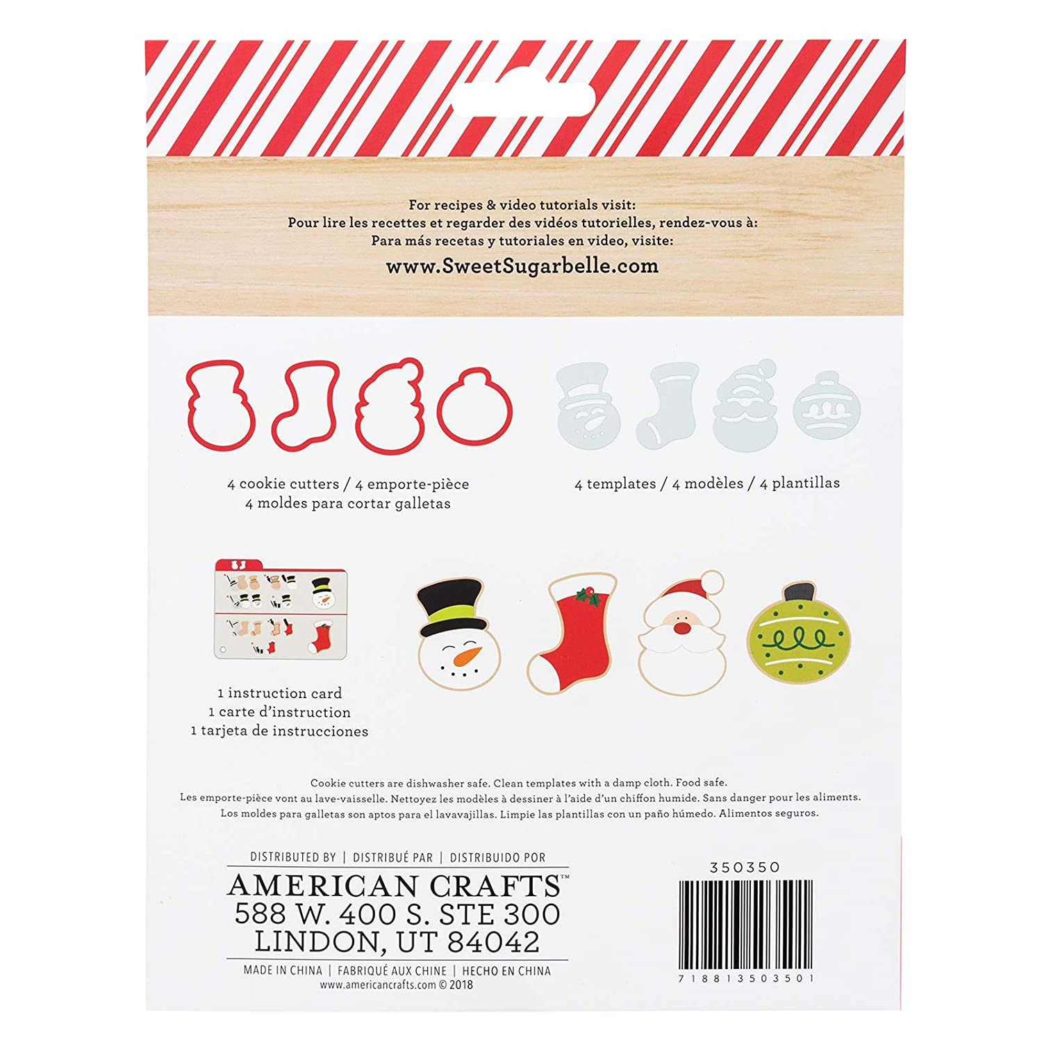 Amazon.com: Sweet Sugarbelle 350350 A Taste of Christmas Cookie Cutter Set, Mutli: Arts, Crafts & Sewing
