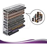 Acrylic Cosmetic Palette Organizer, Makeup Beauty Storage, Cosmetic Display Case, 9 compartments