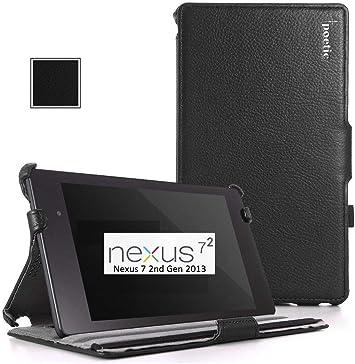 Amazon Com Google Nexus 7 2013 Case Poetic Google Nexus 7 2013 Case Strapback Series Pu Leather View Stand Protective Cover Case For Google Nexus 7 2nd Gen 2013 Black 3