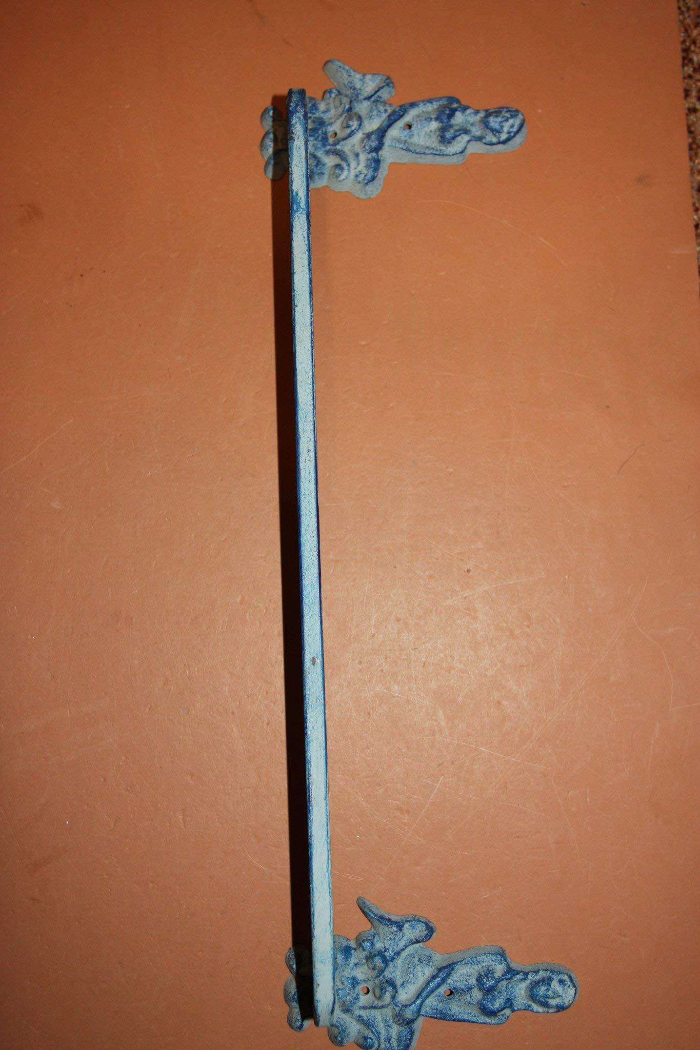 Southern Metal Mermaid Bath Towel Bar Wall Hooks Aqua Cast Iron Bundle 5 Pieces, MM by Southern Metal (Image #2)