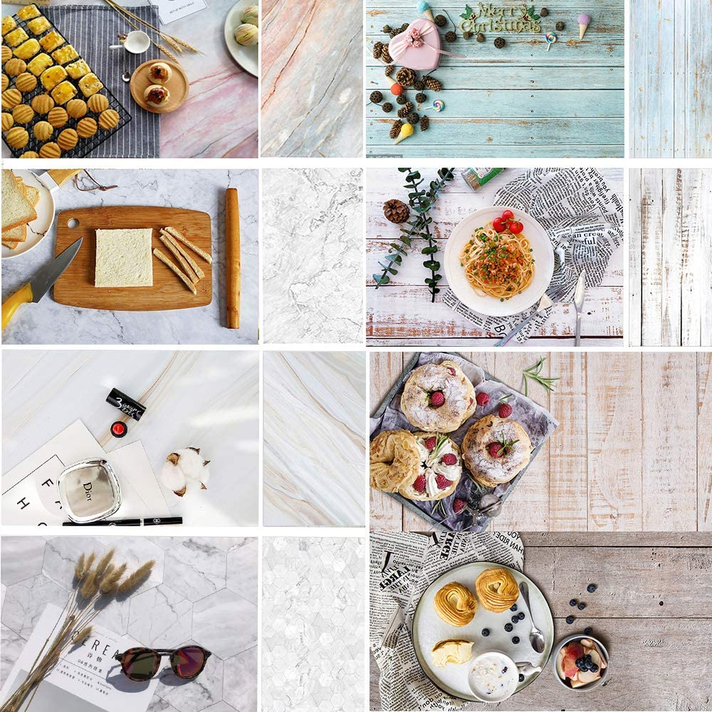Evanto 23x35Inch Photo Background Kit for Flat Lay & Food Photography & Instagram Backdrop