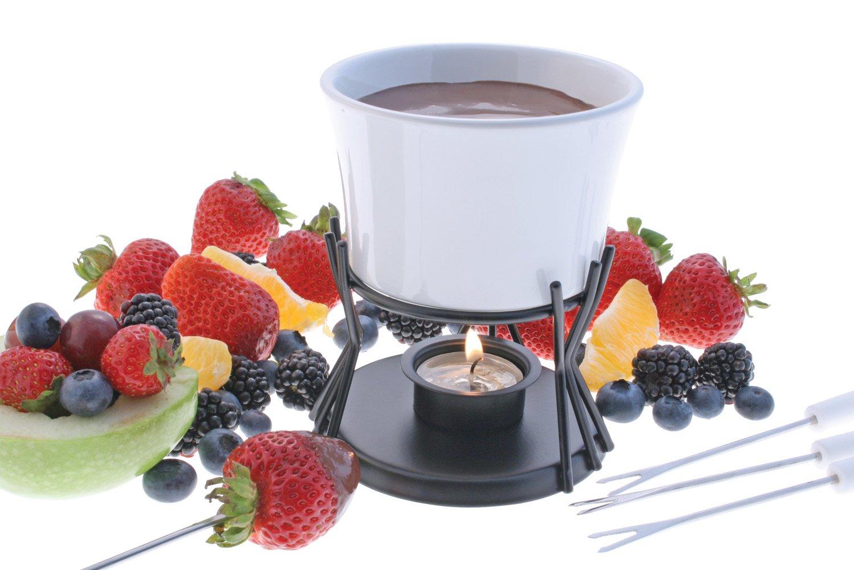 Regular White Swissmar F66321 Kindle 7 Pc Chocolate Fondue Set
