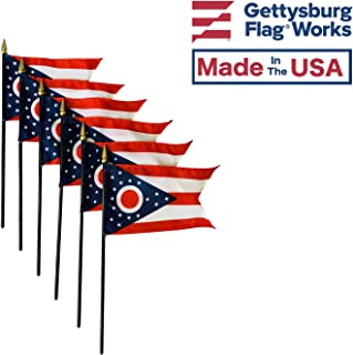 product image for 4x6 E-Gloss Ohio Stick Flag - Flag Only - Qty 6