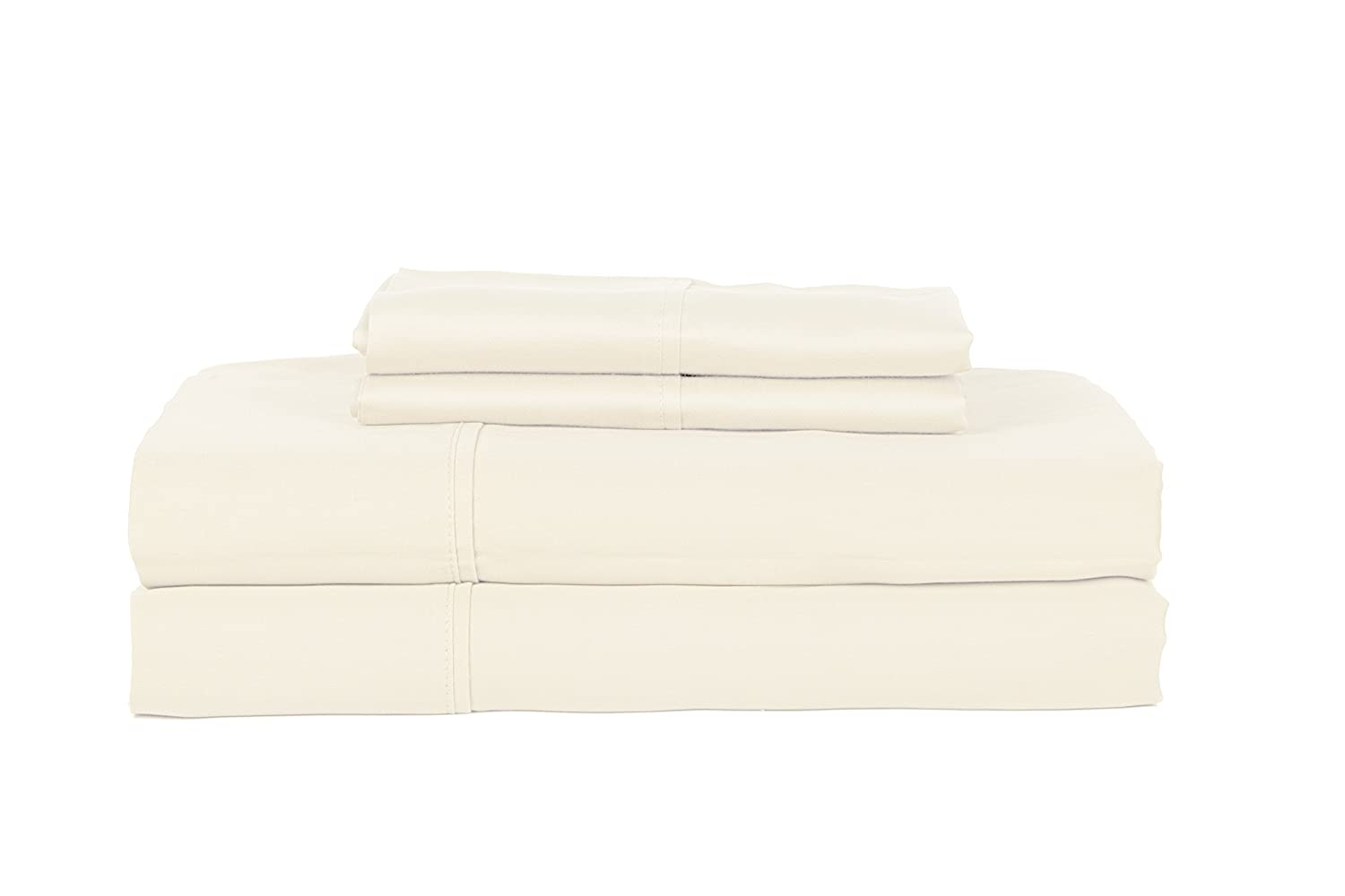 RDM Koncept Elegance Collection T360 Sheet Set Solid Combed Cotton Sateen Queen Lavender