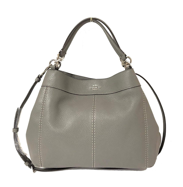 a42e5f592cd4 Coach Pebbled Leather Small Lexy Shoulder Bag Handbag (Heather Grey ...