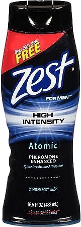 Zest For Men High Intensity Body Wash, Atomic 16.5 oz Pack of 11