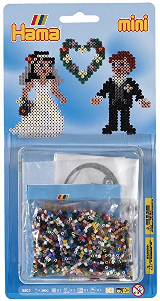 Amazon.com: Hama Beads boda novia & novio Set (Mini ...
