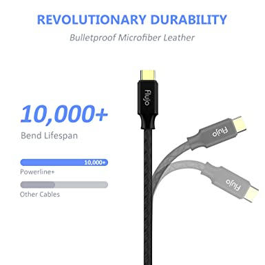 Amazon.com: Flujo USB 3.0 Type-C Cable [2-Pack],USB A to USB C Charger Cable[3Ft],Fast Charging & Data Transfer for Samsung Note 8, S8/S9,Macbook pro ...
