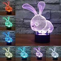 3D óptico Illusions LED Lámparas, Conejo, LSMY Lámpara