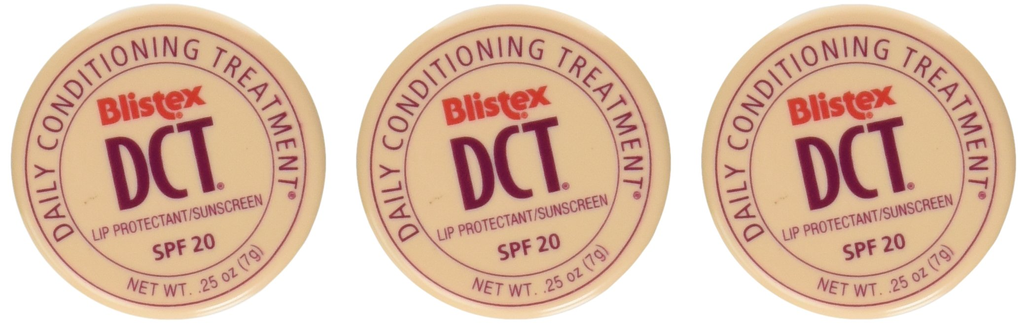 Blistex DCT Jars, SPF 20 (Pack of 3)