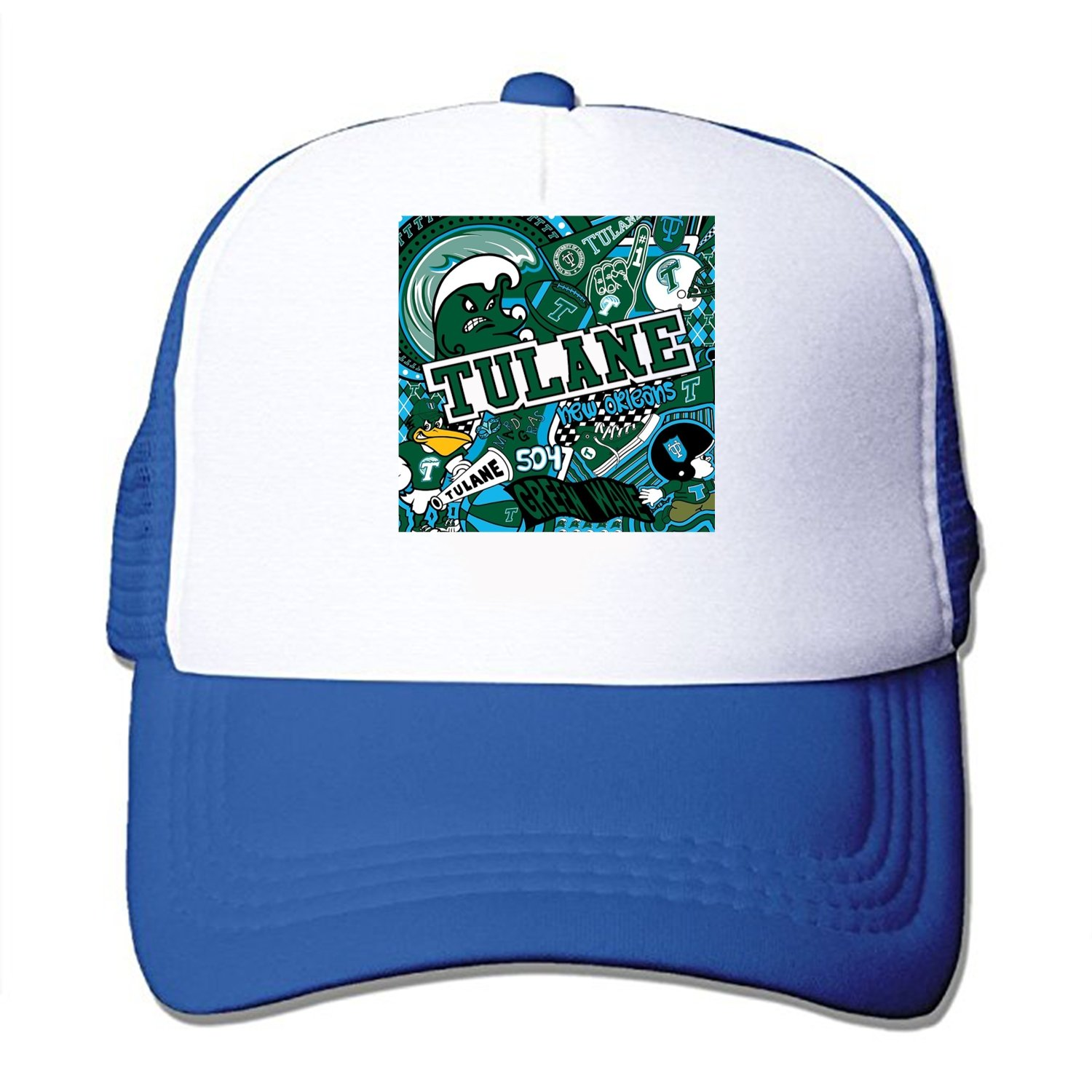 ... italy tulane collage mesh back trucker cap low profile adjustable  snapback hat at amazon mens clothing d70170fc61f3