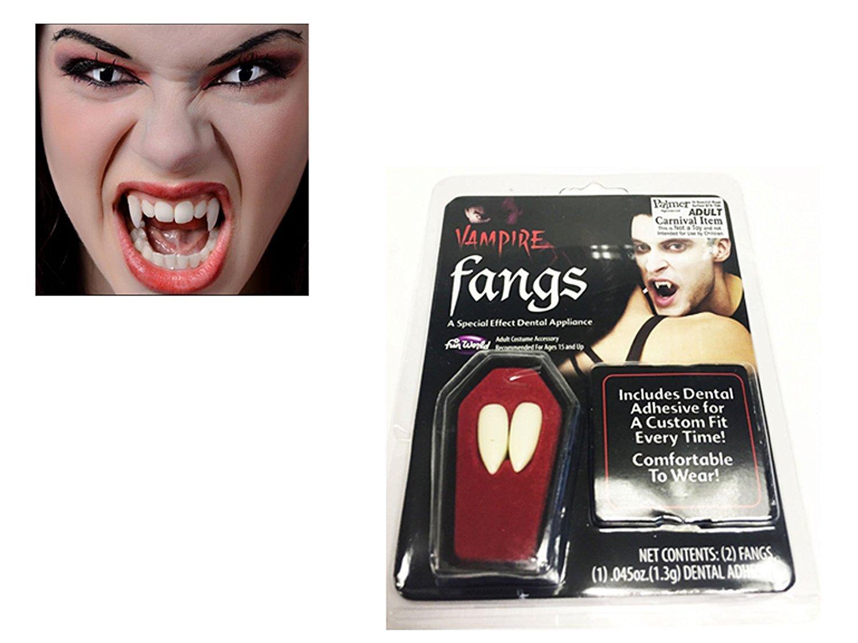 FunWorld Canini da vampiro accessori per vestirsi in maschera