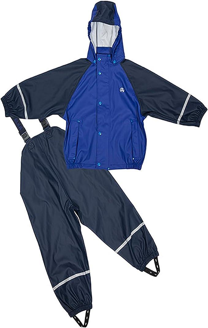 Elka Chándal Impermeable de lluvia-traje con forro polar azul talla ...