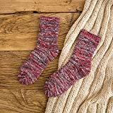 Y@H.Socks thicker solid color retro college style winter warm snow boots cotton socks