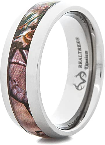 Mens Titanium 8mm Traditional Domed Profile Wedding Ring with Satin Finish
